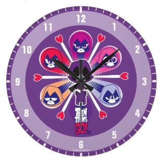 Teen Titans Go! | Raven's Emoticlones Large Clock