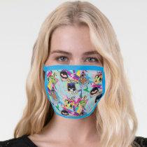 Teen Titans Go!   Retro 90's Group Collage Face Mask