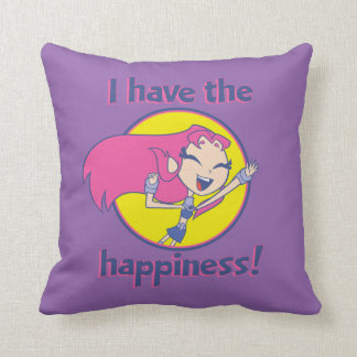"Teen Titans Go! | Starfire ""I Have The Happiness"" Throw Pillow"