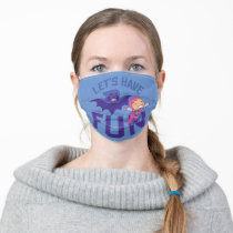"""Teen Titans Go!   Starfire & Raven """"Have The Fun"""" Adult Cloth Face Mask"""