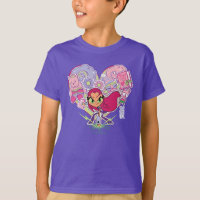 Teen Titans Go! | Starfire's Heart Punch Graphic T-Shirt