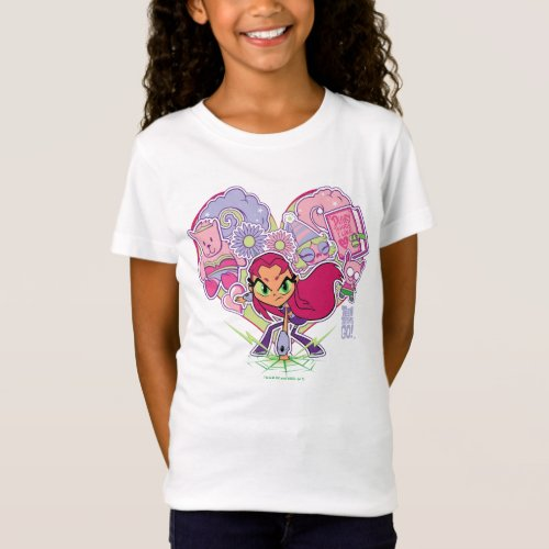 Teen Titans Go  Starfires Heart Punch Graphic T_Shirt