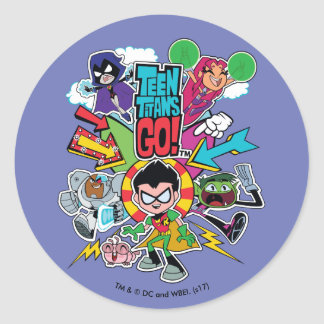Teen Titans Go! | Team Arrow Graphic Classic Round Sticker
