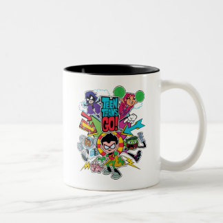 Teen Titans Go! | Team Arrow Graphic Two-Tone Coffee Mug