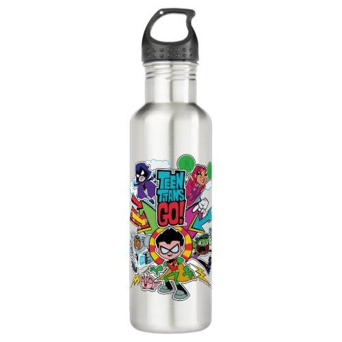 Teen Titans Go!   Team Arrow Graphic Water Bottle