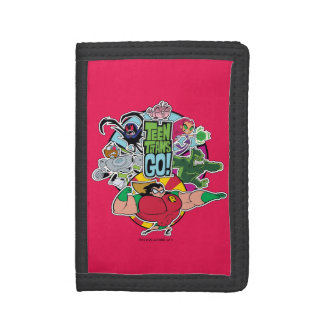 Teen Titans Go! | Team Group Graphic Trifold Wallet