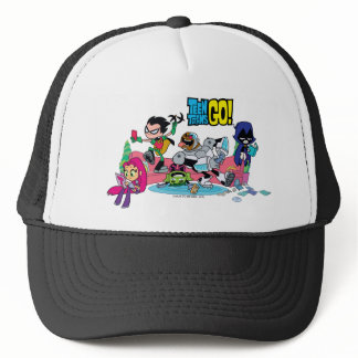 Teen Titans Go! | Tentacled Monster Approaches Trucker Hat