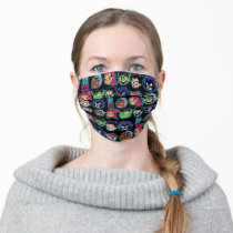 Teen Titans Go!   Titans Head Pattern Adult Cloth Face Mask
