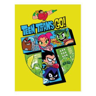 Teen Titans Go! | Titans Tower Collage Postcard