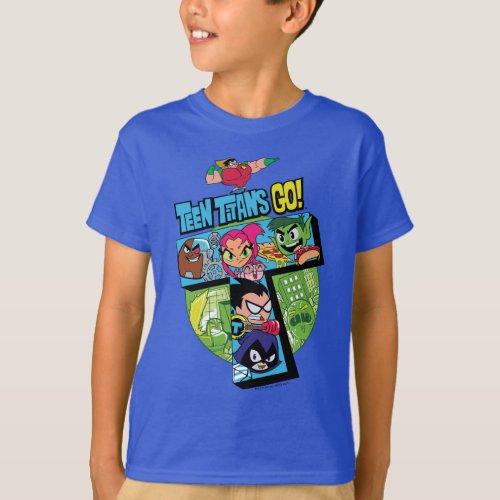 Teen Titans Go  Titans Tower Collage T_Shirt