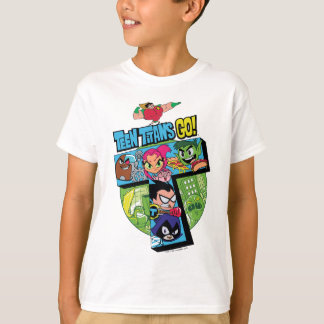 Teen Titans Go! | Titans Tower Collage T-Shirt
