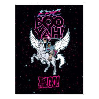 Teen Titans Go! | Warrior Cyborg Riding Pegasus Postcard