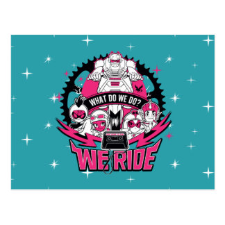 "Teen Titans Go! | ""We Ride"" Retro Moto Graphic Postcard"