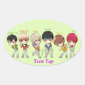 teen top oval sticker