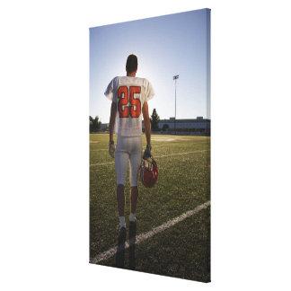 Teenage (16-17) American football player Canvas Print