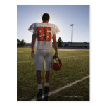 Teenage (16-17) American football player Postcard