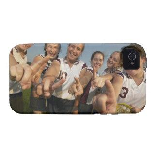 Teenage (16-17) lacrosse team signalling number vibe iPhone 4 cover
