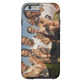 Teenage (16-17) lacrosse team signalling number tough iPhone 6 case