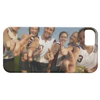 Teenage (16-17) lacrosse team signalling number iPhone 5 case