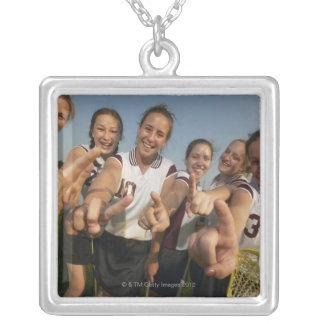 Teenage (16-17) lacrosse team signalling number custom necklace