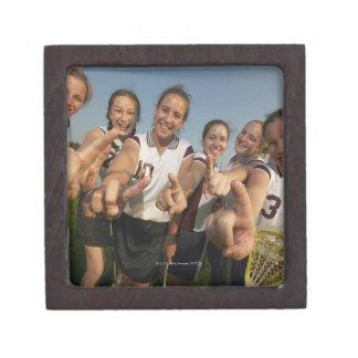 Teenage (16-17) lacrosse team signalling number premium keepsake box