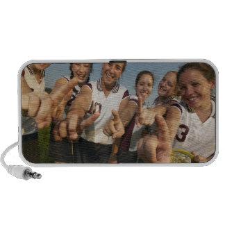 Teenage (16-17) lacrosse team signalling number mp3 speaker