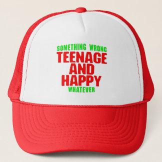 Teenage and Happy Trucker Hat