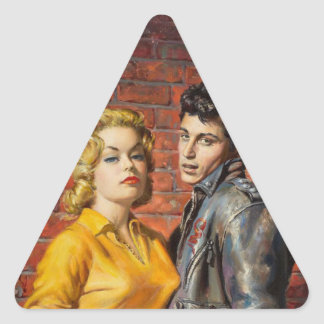Teenage Angst Triangle Sticker