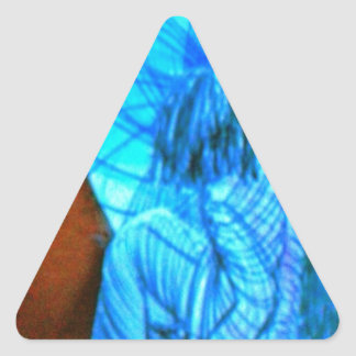 teenage attraction triangle sticker