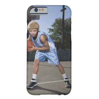 Teenage boy on basketball court 2 barely there iPhone 6 case
