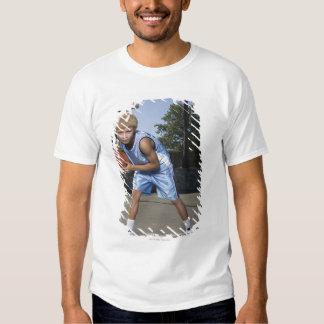 Teenage boy on basketball court 2 t shirt
