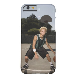 Teenage boy on basketball court barely there iPhone 6 case