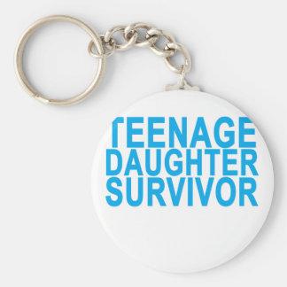TEENAGE DAUGHTER SURVIVOR . KEYCHAIN