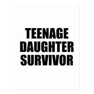 Teenage Daughter Survivor Postcard