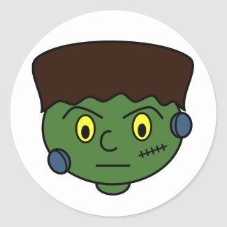 Teenage Frankenstein Monster Classic Round Sticker