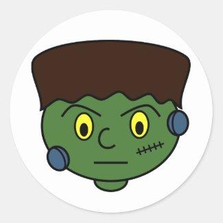 Teenage Frankenstein Monster Classic Round Sticker