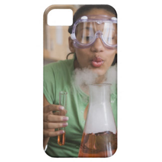 Teenage girl performing science experiment iPhone SE/5/5s case
