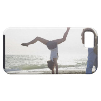 Teenage girl performs gymnastic feat, mom iPhone SE/5/5s case