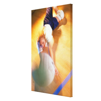 Teenage Girl Playing Volleyball Stretched Canvas Print