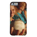 Teenage girls' softball team sitting in dugout barely there iPhone 6 case