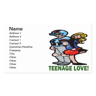 Teenage Love Double-Sided Standard Business Cards (Pack Of 100)