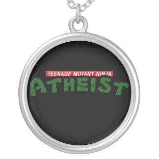 Teenage Mutant Ninja Atheist Silver Plated Necklace