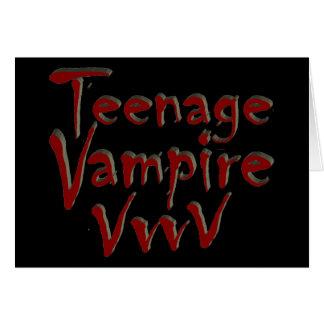 Teenage Vampire with Fangs Greeting Card