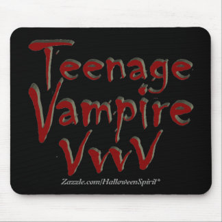 Teenage Vampire with Fangs Mouse Pad