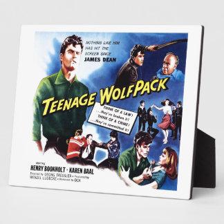 Teenage Wolfpack Plaque