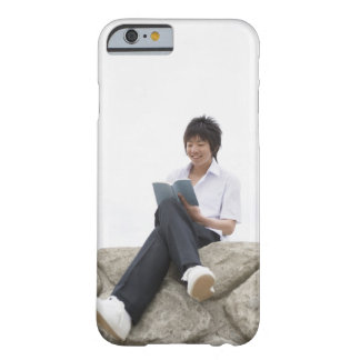 Teenageboy sitting on dock barely there iPhone 6 case