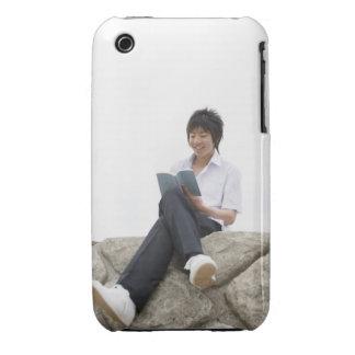 Teenageboy sitting on dock iPhone 3 Case-Mate cases