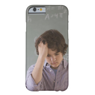 Teenaged boy in front of blackboard with math barely there iPhone 6 case