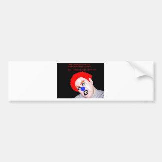 Teenaged Punk Rock Zombie Clown Bumper Sticker