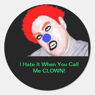 Teenaged Punk Rock Zombie Clown Sticker